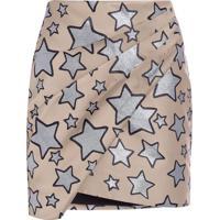 Saia Mini Estrelas - Bege