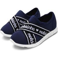 Tênis Molekinha Menina Lycra Viena Protect Azul-Marinho