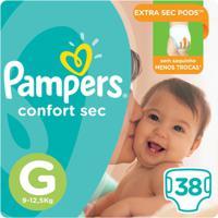 Fralda Pampers Confort Sec 38 Unidades - Unissex-Incolor