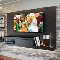 Painel Para Tv Até 60 Polegadas Nath Preto 160 Cm