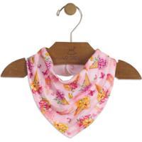 Babador Floral- Rosa Claro & Amarelo- 16X25Cmup Baby - Up Kids