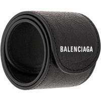 Balenciaga Pulseira Com Estampa De Logo - Preto