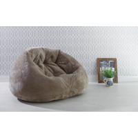 Puff Para Sala Redondo Peluciado Cozy - Cor Marrom - 120X110X70Cm