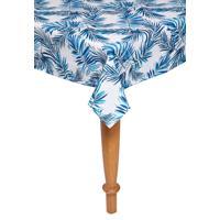 Toalha De Mesa Santista Quadrada Home Design Tropical 1,60X1,60M Azul