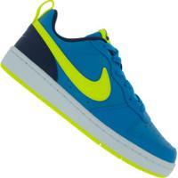 Tênis Nike Court Borough Low 2 - Infantil - Azul/Verde Cla