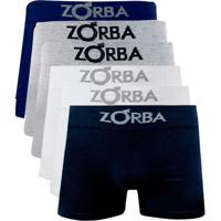Kit 6 Cuecas Boxer Masculinas Com Algodão