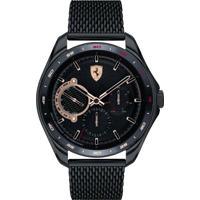 Relógio Scuderia Ferrari Masculino Aço Preto - 830686