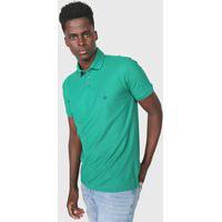 Camisa Polo Dudalina Reta Logo Verde