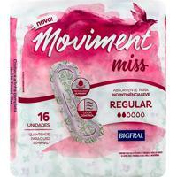 Absorvente Geriátrico Bigfral Moviment Miss Regular 16 Unidades