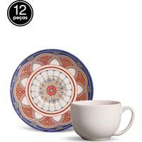 Conjunto 12Pçs Xícaras De Chá Porto Brasil Coup Masdar Branco