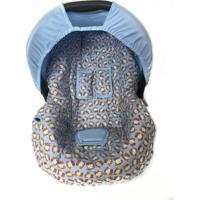 Capa Para Bebê Conforto Macacos Alan Pierre Baby 0 A 13 Kg Azuis