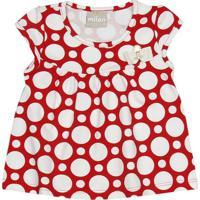 Blusa Poás -Vermelha & Branca - Milonmilon
