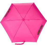Moschino Guarda-Chuva Com Logo - Rosa