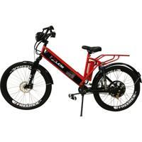 Bicicleta Elétrica Duos Confort Full 800W 48V 15Ah Cor Vermelha