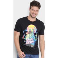 Camiseta Cavalera Geleia Fluor Masculina - Masculino-Preto