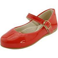 Sapatilha Infantil Basica Vermelha Feminina Menina Confortavel