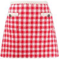 Miu Miu Checked Mini Skirt - Neutro