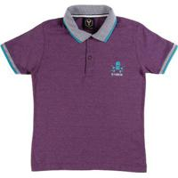 Camisa Polo Juvenil Para Menino - Roxo