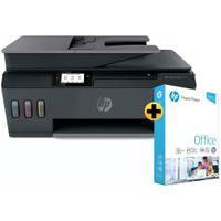 Impressora Multifuncional Hp Smart Tank 617 + Papel Sulfite Hp Office A4