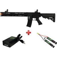 Rifle Airsoft Elétrico Sr4 St Mamba P2 Full Metal + Carregador Qgk L1P1+ Bateria Airsoft - Unissex