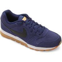 Tênis Nike Md Runner 2 Suede Masculino - Masculino-Azul+Preto