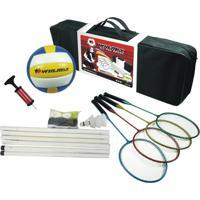 Kit Badminton/Vôlei Para Família Winmax