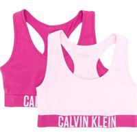 Calvin Klein Kids Conjunto 2 Peças Com Logo - Rosa