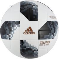 Bola De Futebol De Campo Telstar Oficial Copa Do Mundo Fifa 2018 Adidas Top  Replique - 7f83aed809aa1