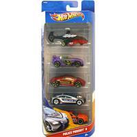 Carrinhos Hot Wheels - Pacote Com 5 Carros - Police Pursuit 5 - Mattel - Masculino-Incolor