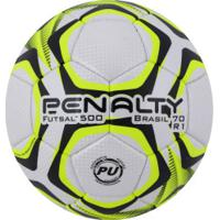 Bola De Futsal Penalty Brasil 70 500 R1 Ix - Branco/Amarelo
