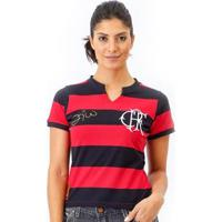 Camisa Flamengo Retrô Tri Zico Feminina - Feminino