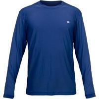Camiseta Active Fresh Curtlo Ml - Masc. - Masculino-Marinho
