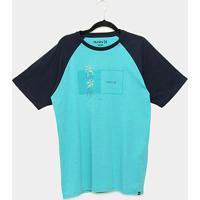 Camiseta Hurley Box Masculina - Masculino-Azul
