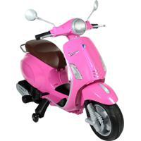 Moto Elétrica Infantil Vespa Bel Brink 913110 Primavera 12V Rosa