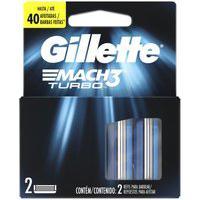 Carga Para Lâmina De Barbear Gillette Mach3 Turbo 2 - Unidades