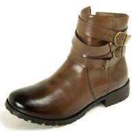 Bota Sapatofranca Ankle Boot Com Duas Fivela Sem Cadarço Tabaco