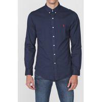 Camisa Polo Ralph Lauren Slim Logo Azul-Marinho