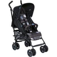 Carrinho De Bebê Passeio Chicco London Matrix Reclinável 4 Posições Para Crianças Até 15Kg - Unissex-Preto
