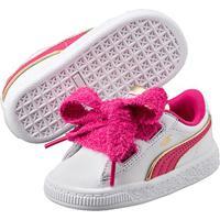 Tênis Infantil Puma Minions Basket Heart Fluffy Feminino - Feminino-Branco+Pink