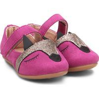 Sapatilha Zeep! Raposa Glitter Feminina - Feminino-Pink