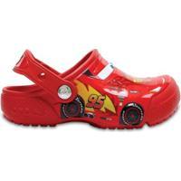 Crocs Infantil Funlab Cars Clog Masculino - Masculino-Vermelho