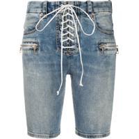 Unravel Project Bermuda Jeans Skinny - Azul