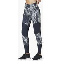 Calça Legging Estampada Textura Preto P