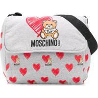 Moschino Kids Bolsa Maternidade Teddybear Com Logo - Cinza