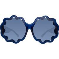 Linda Farrow Óculos De Sol 'Markus Lupfer 1 C4' - Azul