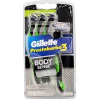 Aparelho De Barbear Prestobarba 3 C/ 4 Body Sense