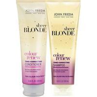 Kit Shampoo + Condicionador John Frieda Sheer Blonde Color Renew Tone Correcting Kit - Unissex-Incolor