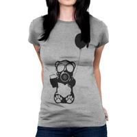 Camiseta Baby Look Hshop Bear Balloon Cinza