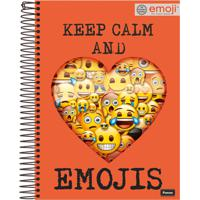 Caderno Foroni Capa Dura Emoji Espiral 200 Folhas