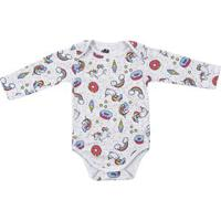 Body Flik Infantil Para Bebê Menina - Cinza